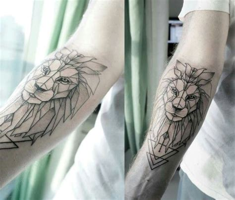 geometric animal tattoo lion 40 spectacular geometric animals tattoo amazing tattoo ideas
