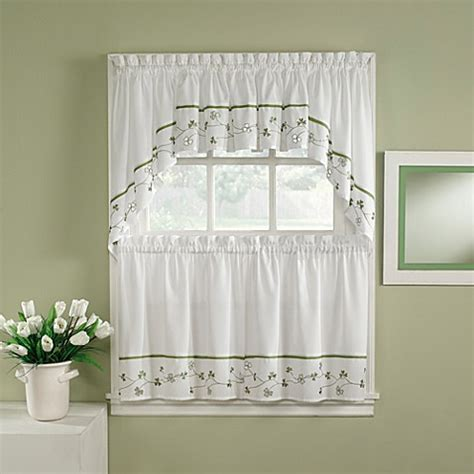 curtains for 36 inch window buy clover 36 inch window curtain tiers from bed bath beyond