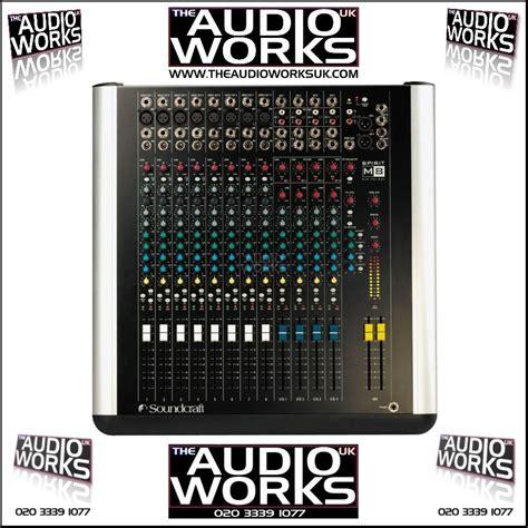Mixer Spirit Live 4 Bekas soundcraft spirit m8 8ch live studio mixer audio works