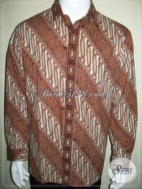 Kemeja Pria Lengan Panjang Batik Parang Coklat kemeja batik parang lengan panjang elegan dan eksklusif