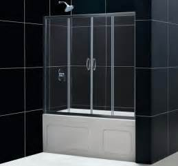 dreamline visions 60 x 58 sliding tub shower door 1 4