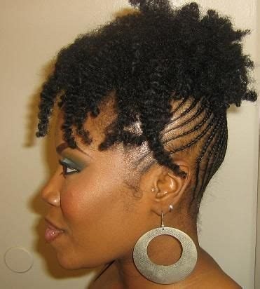 beautiful braided updo on type 4 natural hair  i wish