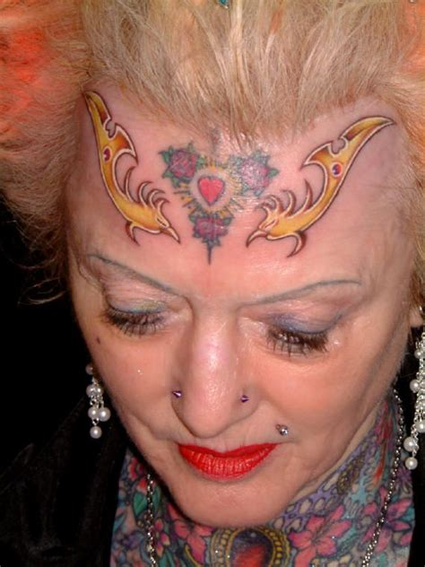 old tattooed lady disgusting tattooed