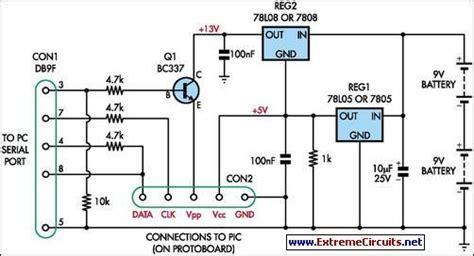 lighting programmer description simple universal pic programmer circuit diagram and