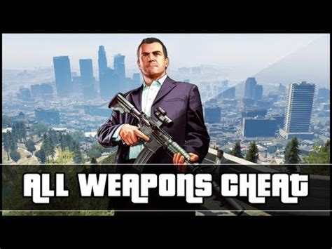 gta 5 new weapon cheat get all guns cheat code (xbox and