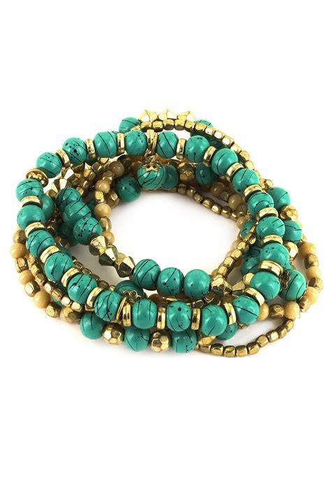 glass bead bracelet glass bead stretch bracelet set bracelets
