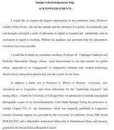 Writing Acknowledgements For Dissertation Thesis Acknowledgement Writing Help Thesis Sample