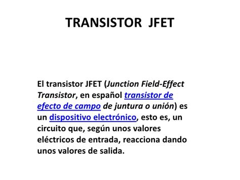 transistor fet slideshare transistor jfet