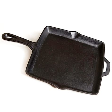 bed bath and beyond cast iron skillet buy 11 inch pre seasoned square cast iron skillet in black