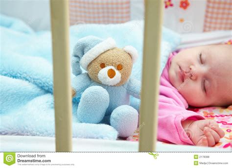 baby in crib royalty free stock photos image 2178388