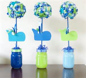baby shower whale theme decorations whale baby shower birthday ribbon topiary centerpieces