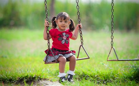 cute baby girl swings download wallpaper 2560x1600 child girl swing mood