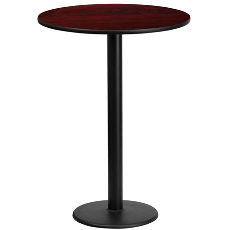 round bar top table 24 round mahogany laminate table top with 18 round bar