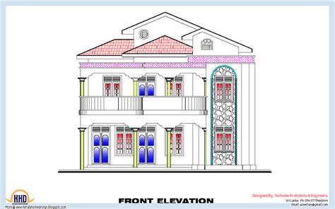 3 bedroom house plan elevation 3 bedroom home plan and elevation kerala home