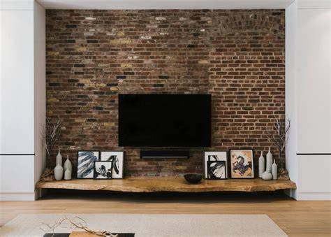 Loft Living Room wall brickwork design ideas for modern living spaces interior