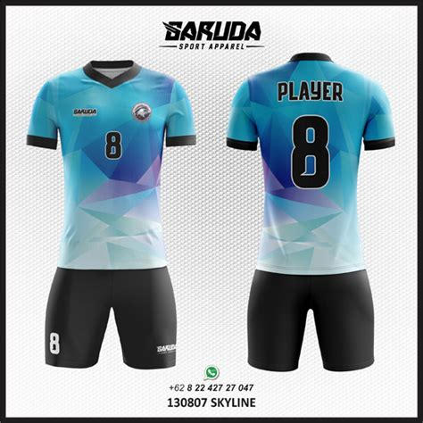 desain jersey bola unik desain jersey bola futsal skyline garuda print