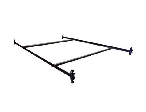 bed frame rails adjustable twin full hook on bed frame rails w cross beams