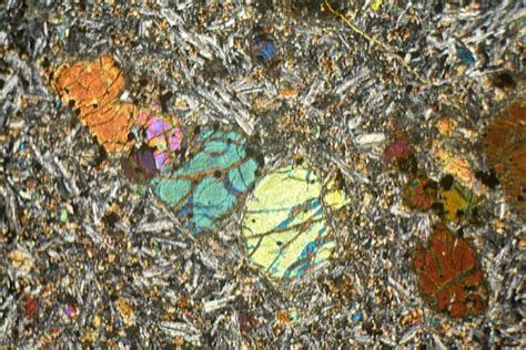 basalt thin section thermally altered amygdule basalt mull thin section
