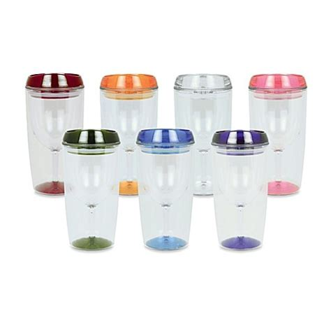 bed bath and beyond tumblers vino luxe insulated 10 ounce wine tumbler bed bath beyond