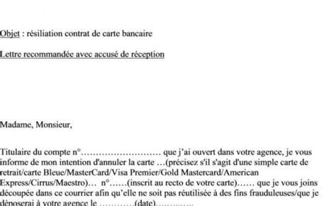 Lettre De Résiliation Carte Bleue Visa Lettre De Resiliation Archives