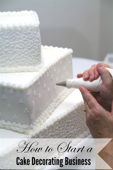 how to start a cake decorating business a spark of