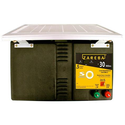 solar fence chargers zareba 30 mile best solar fence charger zareba esp30m z