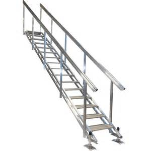 portable aluminum stairs for beach or waterfront access