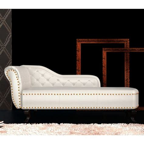 cream leather chaise lounge chesterfield pvc leather chaise lounge cream white buy