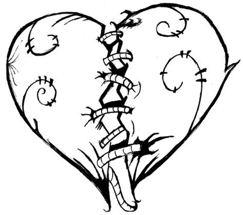 coloring pictures of hearts with wings hearts that are broken coloring pages clipart best