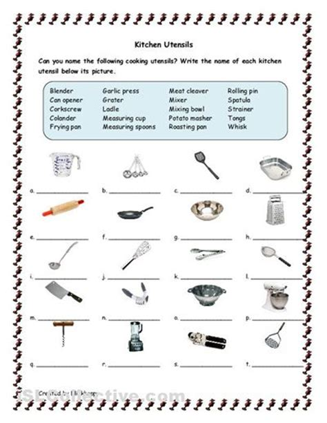 printable images of kitchen utensils kitchen tools and utensils for classroom kitchen