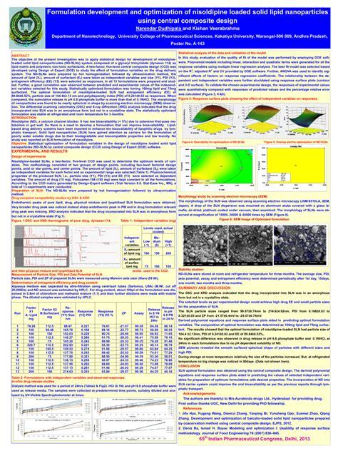 design expert central composite design tutorial formulation development and optimization pdf download