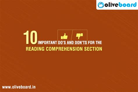 Government Exams For Mba by 10 Important Do S And Don Ts For The Reading Comprehension