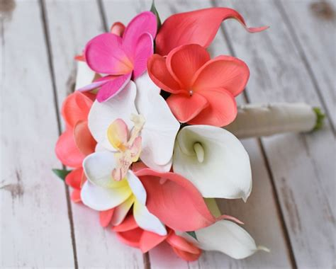 Artificial Coral 024 touch silk coral plumerias orchids