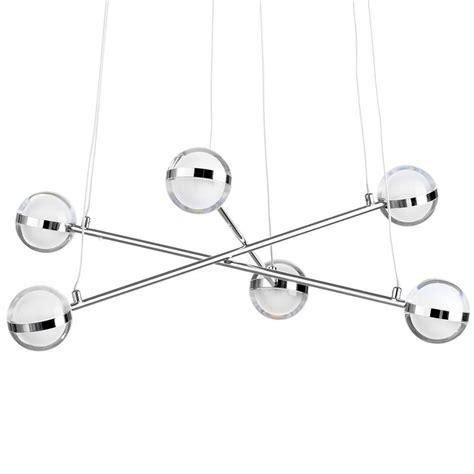 led glass pendant lights 6 light led glass ball bar ceiling pendant chrome from