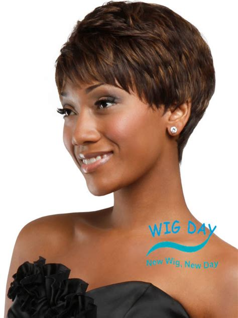 short hairstyle wigs for black women 2015 new stylish pixie cut hairstyle synthetic wigs short