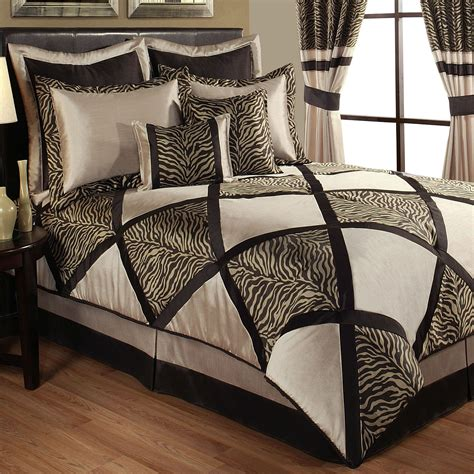 true safari zebra print comforter bedding