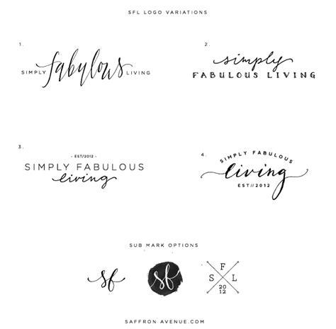 design a logo for your blog logo and blog design simply fabulous living saffron