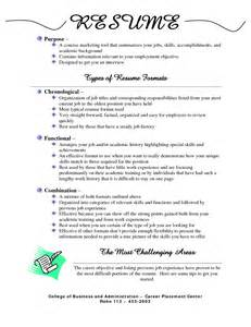 Formats Of Resumes Best Types Of Resumes Formats Types Of Resumes Formats