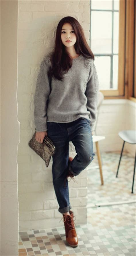 Dress Model Casual Simple Style Gray Black Impor what boots for my boyfriend dress like a parisian
