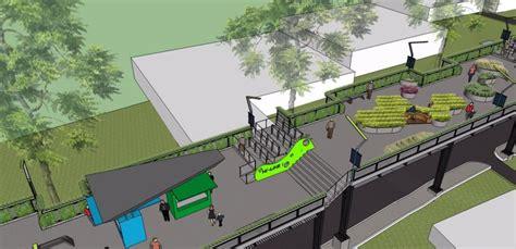desain gerobak kaki lima bandung merdeka com mengintip desain skywalk