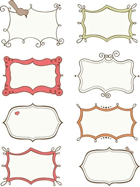 printable gift tag borders 15 best images about doodle frames border labels on