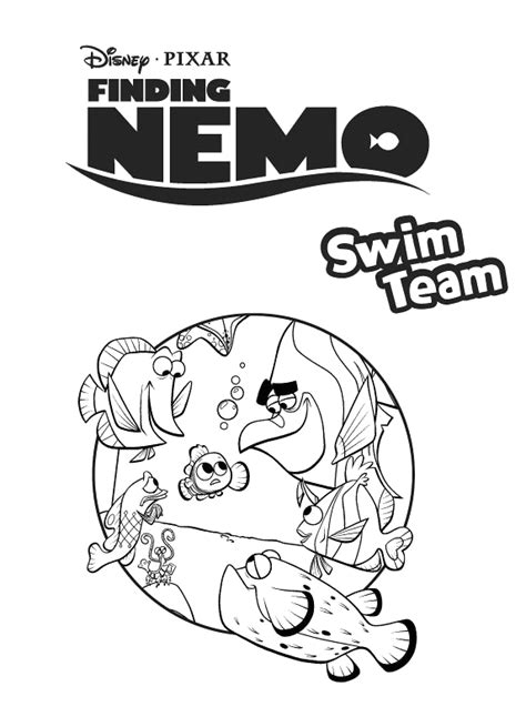 bloat finding nemo coloring page the gallery for gt nemo and dory coloring pages