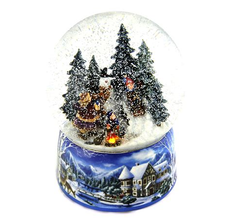 'Let it Snow' Light up musical Christmas Snowstorm Globe