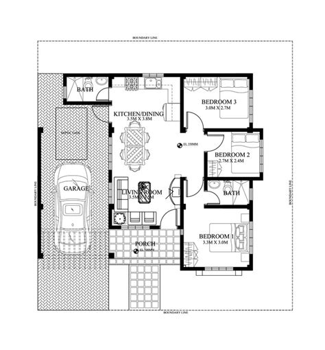 house design plans 50 square meter lot single story small house plan floor area 90 square meters