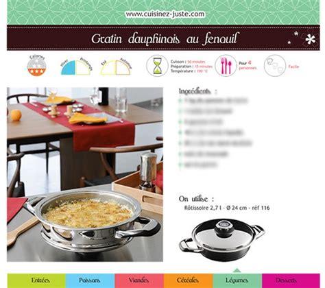 recettes de cuisine pdf fiche recette plat chaud gratin dauphinois au fenouil