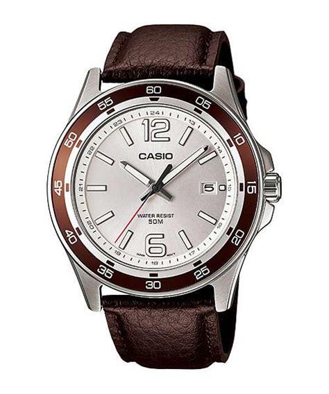 Jam Tangan Pria Wanita Cewek Esprit Tali Kulit Motif Terbaru Remaja 1 casio pria mtp 1373l 7av tali kulit jam tangan casio