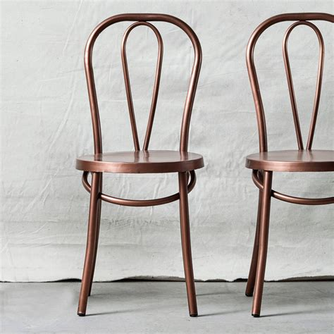 Retro Metal Dining Room Chairs Retro Metal Dining Chair In Brass By Out There Interiors