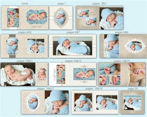 baby album templates items similar to instant 10x10 baby album