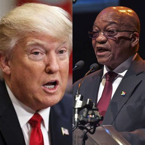 donald trump zuma trump and zuma to have a talk south africa today