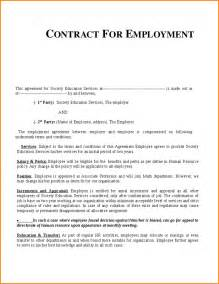 work agreement contract template work contract template employment contract template 1 png